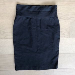 Charlotte Russe Black Body Con Pencil Skirt